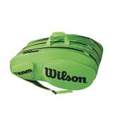 Tenisový bag Wilson TEAM III 12 Pack  green/black