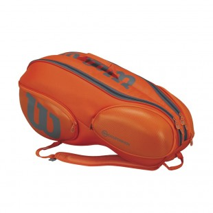 Tenisový bag Wilson Vancouver V9 orange/grey 2017