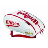 Tenisový bag Wilson 100 YEAR TOUR MOLDED X15 - White