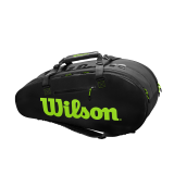 Tenisový bag Wilson Super Tour 2 Compartment Black/Green