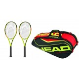 Tenisový set raket Head Graphene XT Extreme MPA 2x + tenisový bag HEAD Extreme 9R Monstercombi