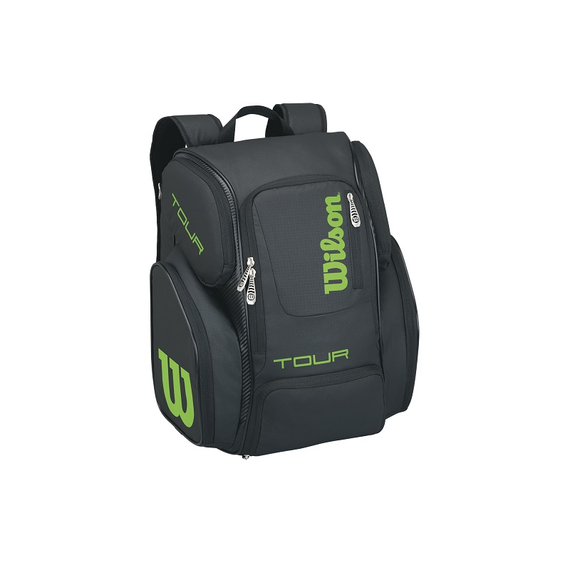 Tenisový batoh Wilson Tour V Backpack Large black/lime