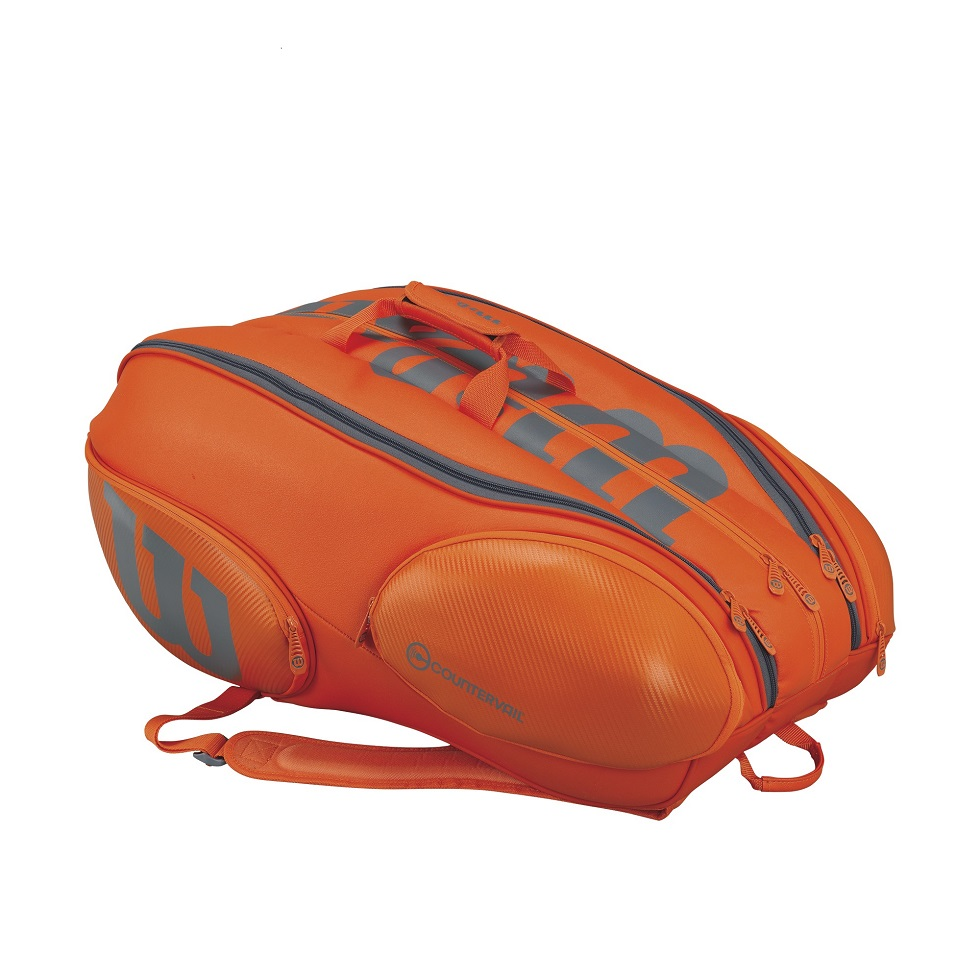 Tenisový bag Wilson Vancouver V15 orange/grey 2017