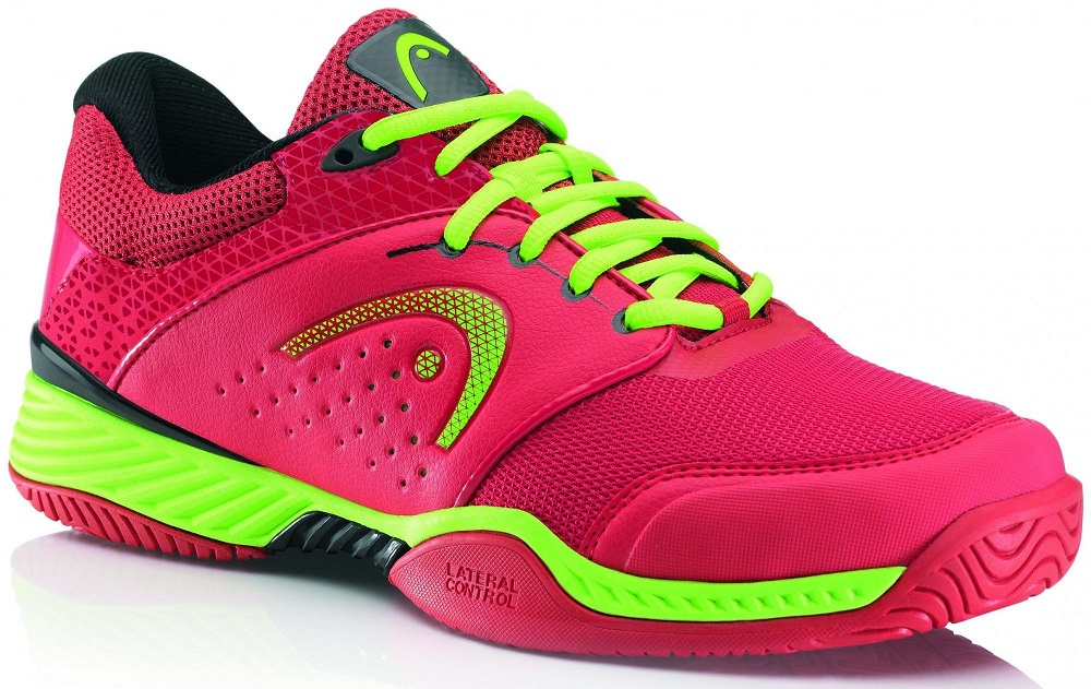 Tenisová Obuv HEAD Chase Men - Red/Neon Green EUR 46 (UK 11)
